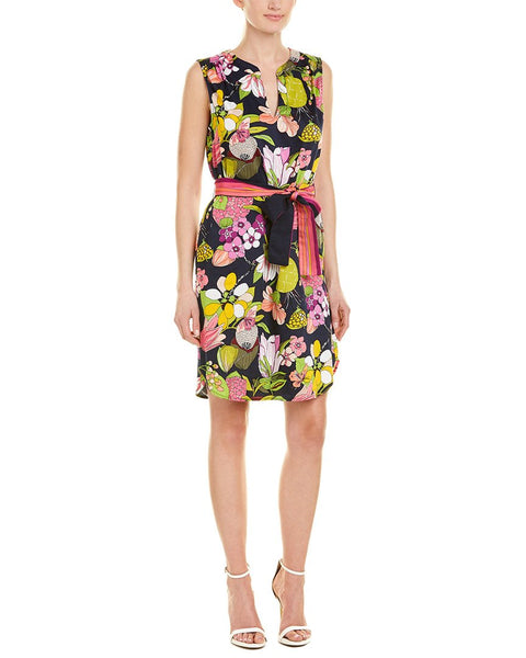 Trina Turk Women's Floral Printed Dress - Size 0, Black