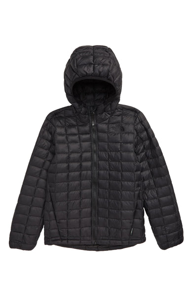 Boy's The North Face Thermoball (TM) Eco Hooded Jacket | Size L (14-16) | Black