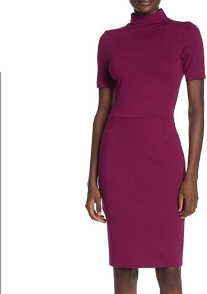 Love…Ady Women - Turtleneck Bodycon Dress, Magenta Size Medium