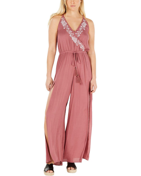 American Rag Juniors' Embroidered Split Leg Jumpsuit