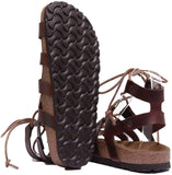 Papillio Cleo Women;s Leather Gladiator Sandals Size 7, Cognac