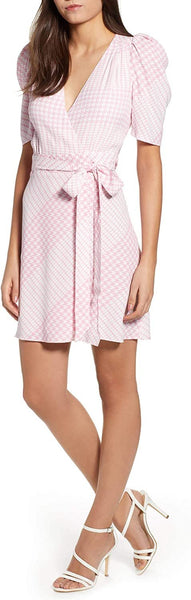 Afrm Women's Cassian Wrap Dress, Size Medium - Pink