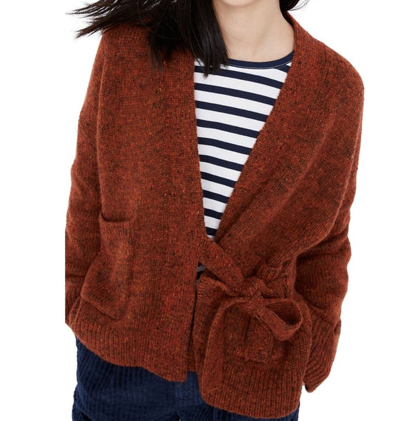 Madewell Women Loring Wrap Cardigan Long sleeves | Size - XS | Brown