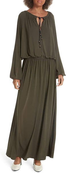 Elizabeth and James Luna Maxi Dress, Olive, Medium
