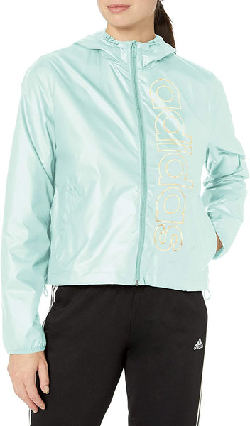 adidas Womens Essentials Branded Windbreaker | Size - Large | Green Tint