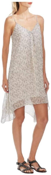 Vince Camuto Shadow Etching Slipdress, Size Medium - Ivory