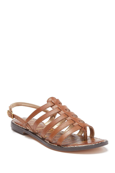 Sam Edelman Garland Leather Sandal, Luggage, 6.5