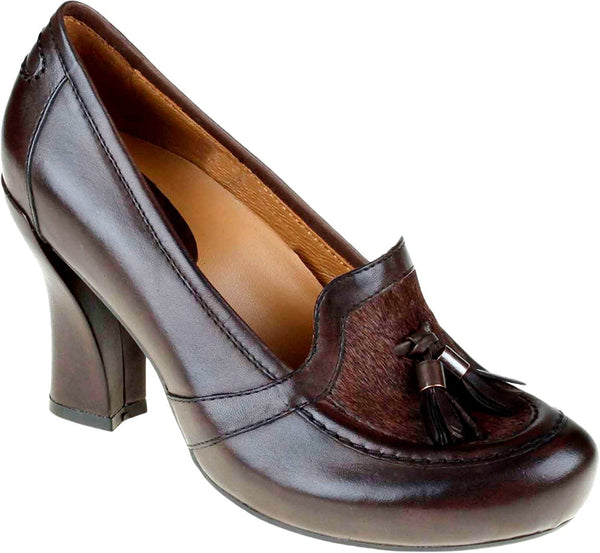Earthies Women's Carenna Dress Shoes, Bark Soft Calf, 9 M US