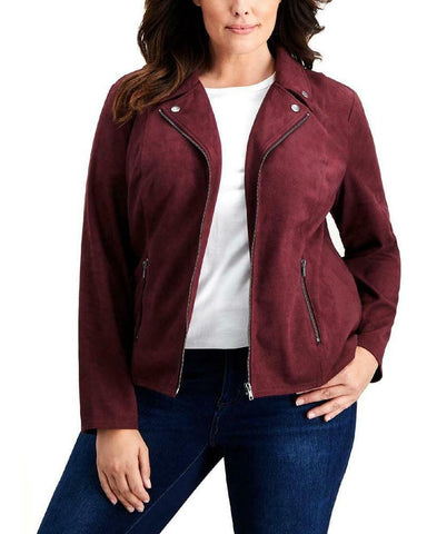 Style & Co Plus Size Faux Suede Jacket