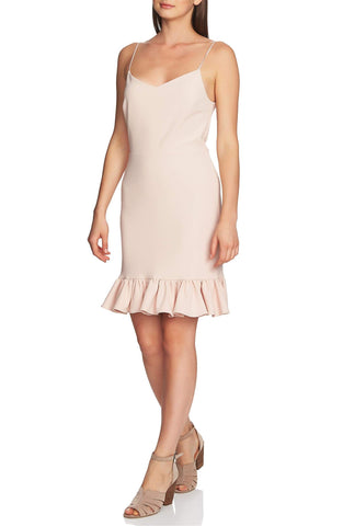 1.STATE Ruffle Hem A Line Dress