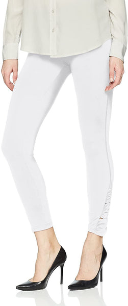HUE Women's Ruched Skimmer Leggings