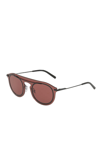 Dolce & Gabbana 48mm Bordeaux Polar Smoke Dark Violet Lens Round UV Sunglasses