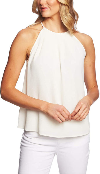 CeCe Pleated High Neck Top
