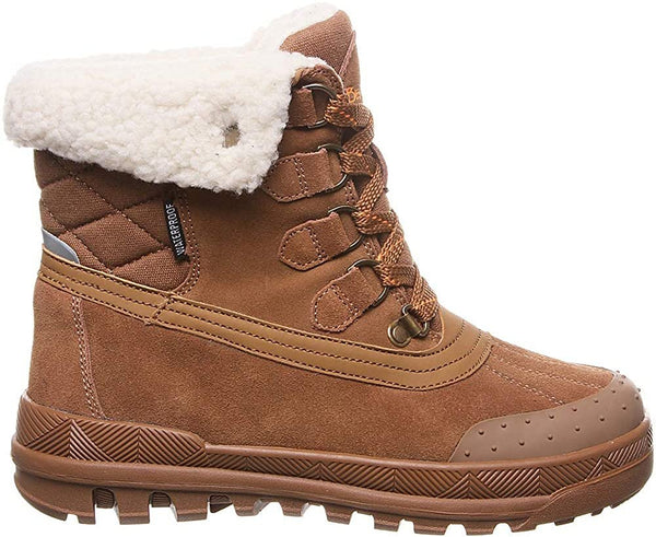 BEARPAW Womens Inka Closed Toe Ankle Cold Weather Boot, Size 6, Brown