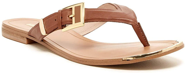 LOUISE ET CIE Fabianna Slip-on Thong Toe Sandal - Size 8, Color - Brown
