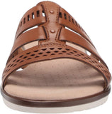Clarks Women's Kele Willow Strappy Slide Sandal - Size 10, Tan