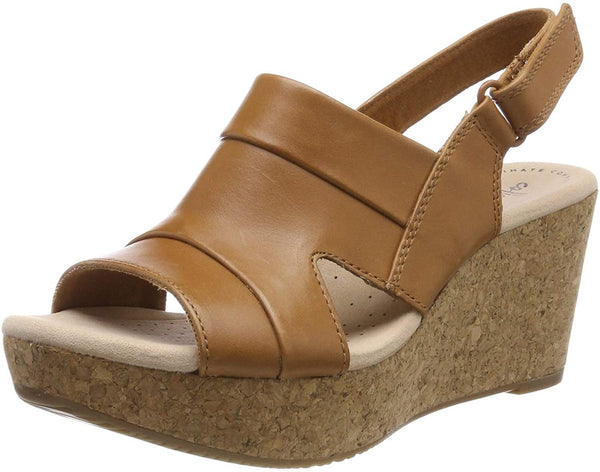 Clarks Women's Slingback Sling Back Sandals, Brown Tan, 7 M UK