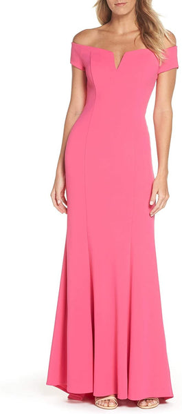 Vince Camuto Women's Notched Off The Shoulder Trumpet Gown, Size 12 - Pink