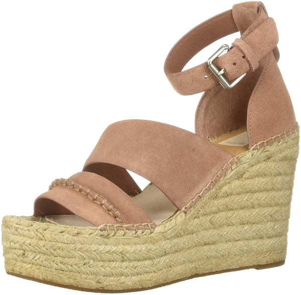 Dolce Vita Women's SIMI Wedge Sandal, Clay Suede, 8 M US