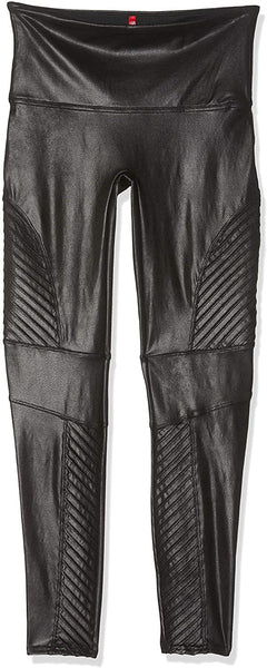 SPANX Women's Faux Leather Moto Leggings