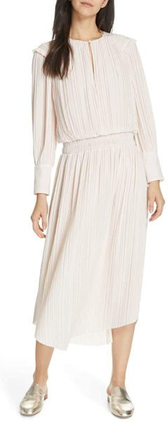 Joie Rheia Pleat Midi Dress, Size Medium - Pink