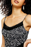 Women's Topshop Floral Lace Sleeveless Dress, Size 6 - Black