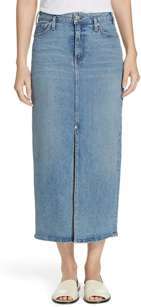 Proenza Schouler Women's Slit Seam Denim Midi Skirt, Size 4 - Blue