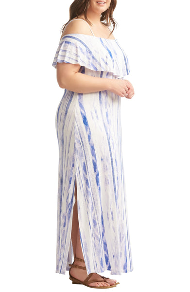 Lemon Tart Women Tacita Maxi Dress, Size 4X - Blue