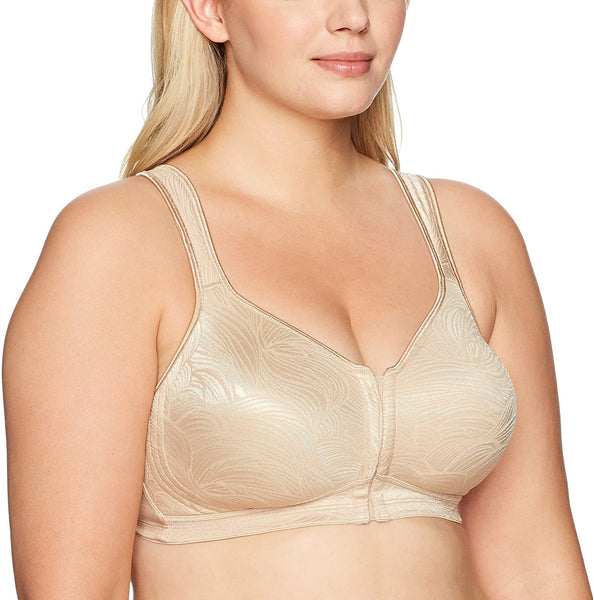 Playtex Women's 18 Hour Front Close Wirefree Back Support Posture Full Coverage Bra #E525