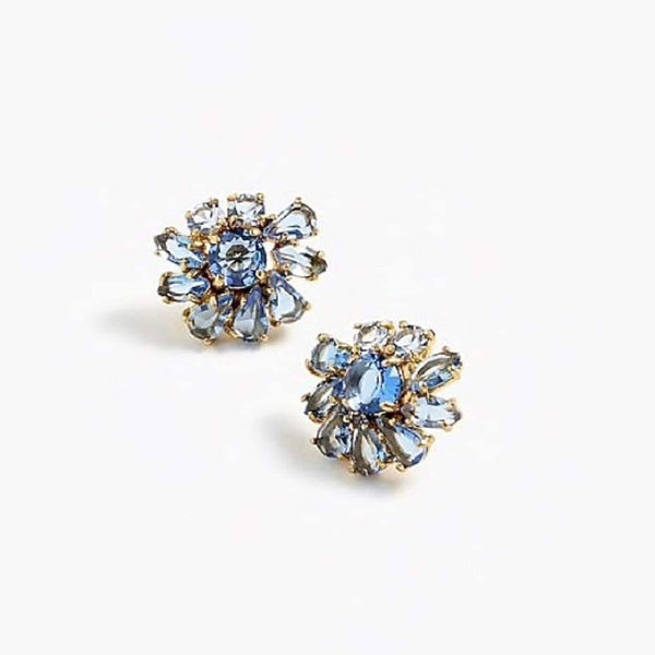 J.Crew Sparkle stud earrings in blue