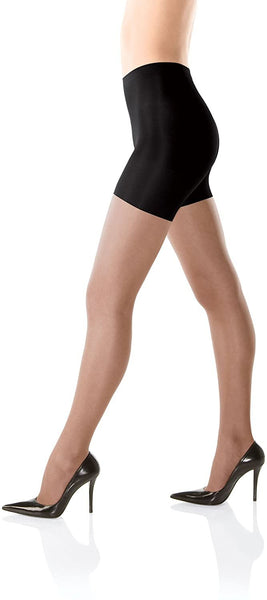 SPANX All The Way Super Control Pantyhose (B, Black), Black, Size B