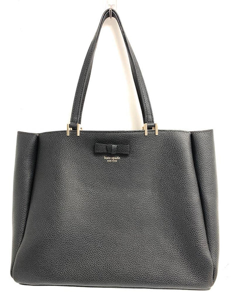 Kate Spade Women's Saffiano Leather Tote Satchel Bag - One Size - Black