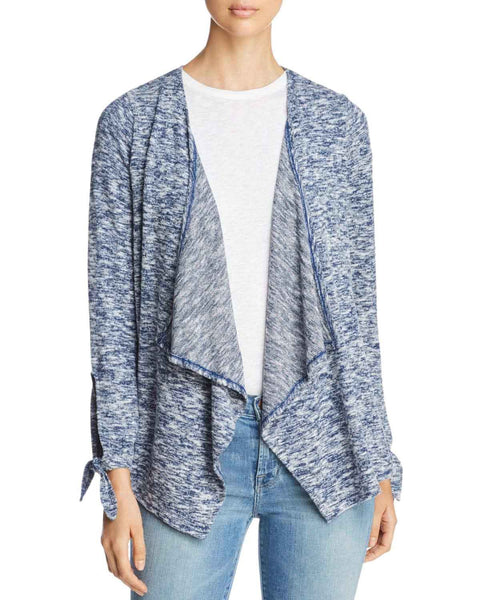 Design History Tie Sleeve Marled Open Cardigan