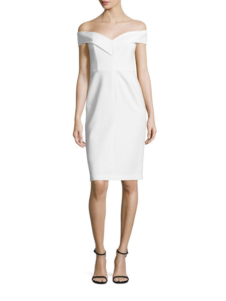 Alice & Olivia Luana Off The Shoulder Fitted Sheath Cocktail Dress