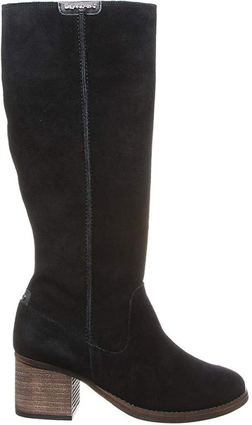 BEARPAW Women's High Boots, Size 6 M UK, Black