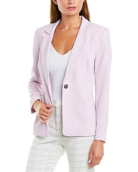 1.STATE Textured Crepe One Button Blazer
