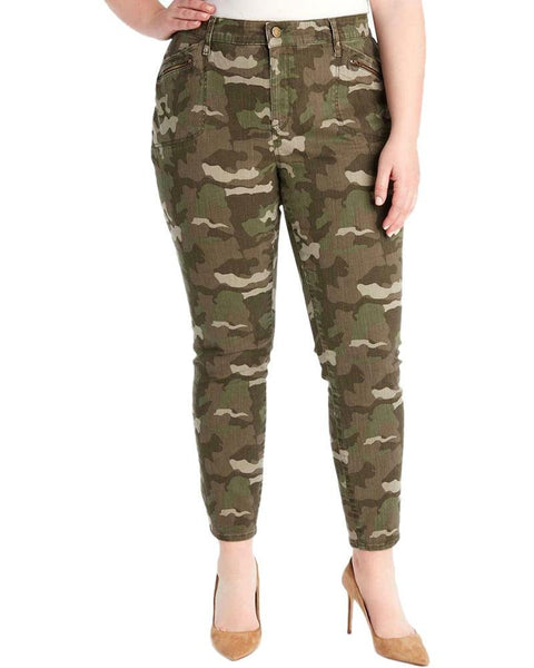 WILLIAM RAST Plus Size Camo Print Cargo Pants