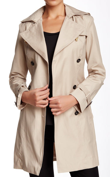 Cole Haan Women's Double Breasted Trench Coat | Size Small | Sand