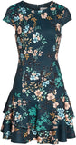 Eliza J Women's Floral Print Cap Sleeve Fit & Flare Dress, Size 16 - Green