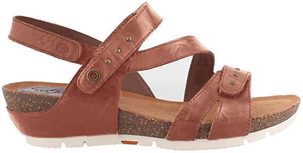 Josef Seibel Womens  Leather Open Toe Casual Platform Sandals, Camel, 6