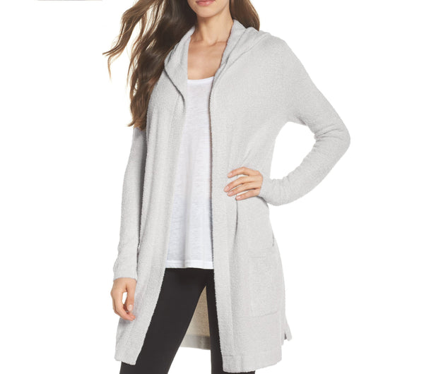 Barefoot Women's Dreams Cozychic Lite Coastal Hooded Cardigan - Size XS/S - Sand
