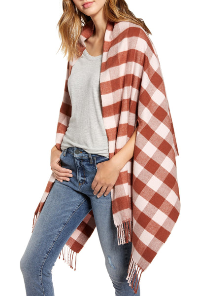 Madewell Women ribbed trim Cashmere Scarf | One Size | Color - Wisteria Dove