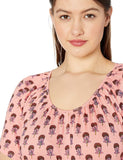 Lucky Brand Women's Plus Size Printed Swing Top