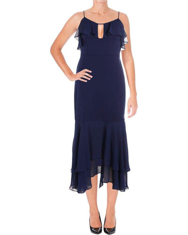 Aidan by Aidan Mattox Women's Crepe Chiffon Scuba Dress