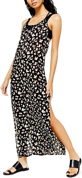 Topshop Women's Printed Maxi Cover-Up Dress - Size Large | White