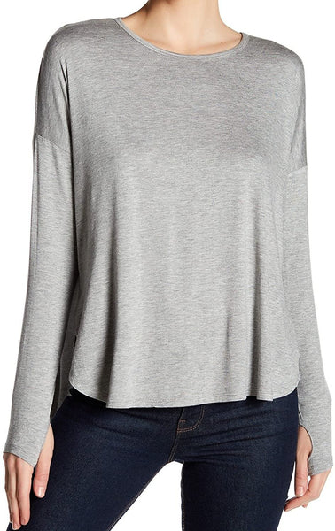 Sweet Romeo Womens Casua Crew Neck T-Shirt Gray M