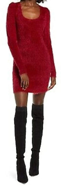 4siEnna Women Long Sleeve Sweater | Size - Small | Color - Red
