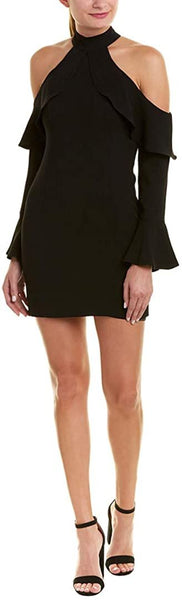 Women's Bardot Nightshade Cold Shoulder Sheath Dress, Size 6 - Black
