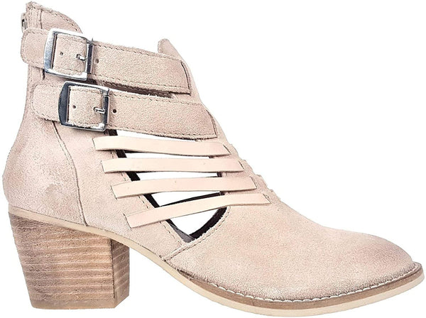 Rebels Gala Womens Leather Boots, Sand, 8