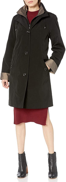 Gallery Women's Missy 3/4 A Line Rain Coat